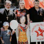 """""""Бессмертный полк"""" в Miami, Florida, USA"""